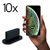 innoGadgets 10x Anti Dust Plugs Compatible with iPhone 7/8/X/XR/XS/11/11Pro | Dust Cap, Dust Protection - Lightning Connector Cover | Black