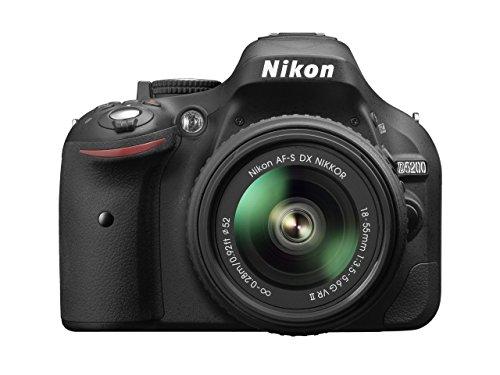 Nikon D5200 Nikkor 18/55 VR II Fotocamera Reflex Digitale, 24.1 Megapixel, LCD HD 3' Regolabile, Nero [Versione EU] (Ricondizionato Certificato)