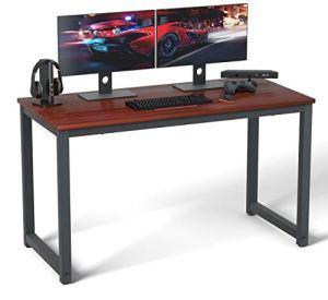 Computer Desk 47' Modern Sturdy Office Desk Study Writing Desk for Home Office, Coleshome, Teak