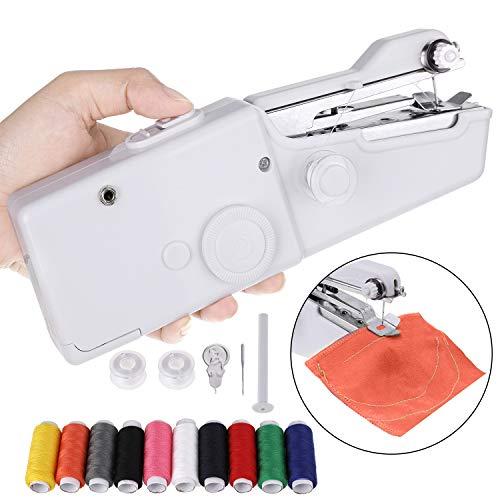 Faburo Mini Macchina da Cucire Portatile, Handheld Cordless Strumento di Cucitura Rapida con 10 PCS...