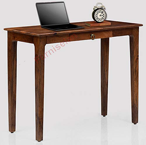FurniselanSolid Wood Multipurpose Study Console Table for Living Room Home (Teak Finish)