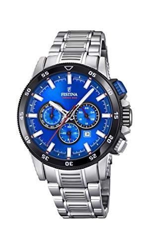 Festina Herren Chronograph Quarz Smart Watch Armbanduhr mit Edelstahl Armband F20352/2