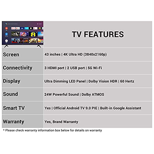 41KQiyWtsFS Hisense 108 cm (43 inches) 4K Extremely HD Sensible Licensed Android LED TV 43A71F (Black) (2020 Mannequin)   With Dolby Imaginative and prescient and ATMOS