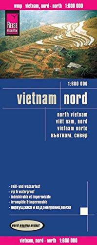 Vietnam norte, mapa de carreteras impermeable. Escala 1:600.000. Reise-Know-How.