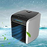 2021 Portable Air Conditioner, Rechargeable Evaporative Air Conditioner Fan with 3 Speeds 7 Colors, Cordless Personal Air Cooler with Handle for Home, Office and Room