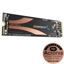 Sabrent 1TB Rocket Nvme PCIe 4.0 M.2 2280 Internal SSD Maximum Performance Solid State Drive (SB-ROCKET-NVMe4-1TB)