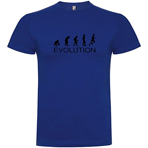 Camiseta Running Evolution Running Manga Corta Hombre Azul Royal...