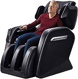Wisehealth Zero Gravity Massage Chairs Recliner, Full Body Massager and Shiatsu with Foot Roller&Heat(Black)