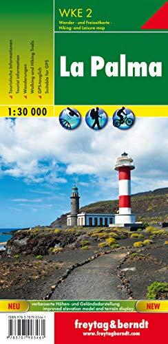 La Palma, mapa excursionista WKE 2. Escala 1:30.000. Freytag & Berndt.: Walking Map (Wander Karte)