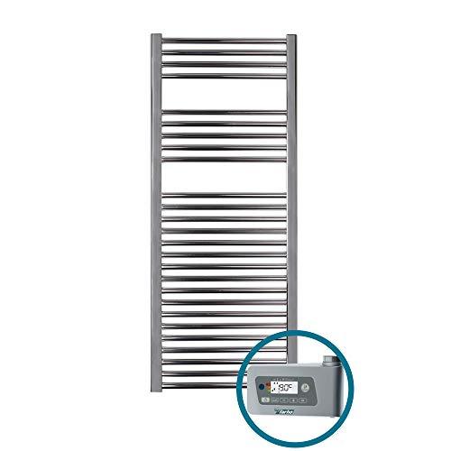 SECHE SERVIETTE Electrique Farho NOVA Chromé Radiateur Seche Serviette Electrique • 800 Watts • Mesure (1200 x 500 mm)