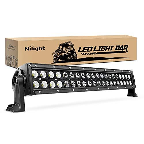 Nilight 22' 120w LED Light Bar Flood Spot Combo Driving Lights Fog Lamp off road led lights for SUV ATV Truck 4x4 Boat ,2 Years Warranty