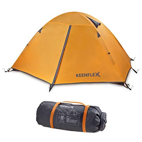 KeenFlex Tente de Camping 2 Personnes Double Couche Ultra légère