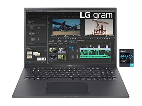 """LG Gram 16Z90P, Display 16"""" Quad HD 16:10 IPS, 2560x1600, Intel Core i7-1165G7, RAM 16GB DDR4, SSD 512GB, Intel Iris Xe, Batteria 80Wh, Thunderbolt4, Win10 PRO, Tastiera Italiana, Peso 1190g, Black"""
