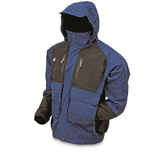 FROGG TOGGS Men's Toadz Firebelly Waterproof Rain Jacket, Dust Blue/Black,...