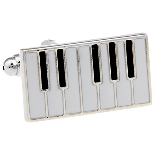 Piano Keys Cufflinks Gift Music Fan Cuff Links