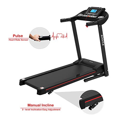 """HYLINCO Folding Electric Treadmills for Home, Foldable Compact Treadmill with Incline, 5"""" LCD Display and Tablet/Cup Holder, Portable & Quiet Running Machine 7"""