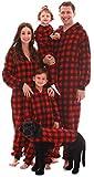 #followme Family Pajamas Buffalo Plaid Microfleece Womens Adult Onesie 6755-10195-M
