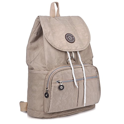 ZYSUN Fashion Travel High School Backpacks LightWeight Bag for College Girls Womens(604,nude)
