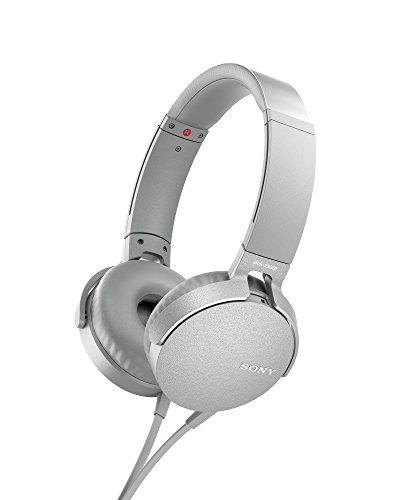 Sony MDR-XB550AP - Cuffie on-ear EXTRA BASS con microfono, Archetto regolabile, Bianco