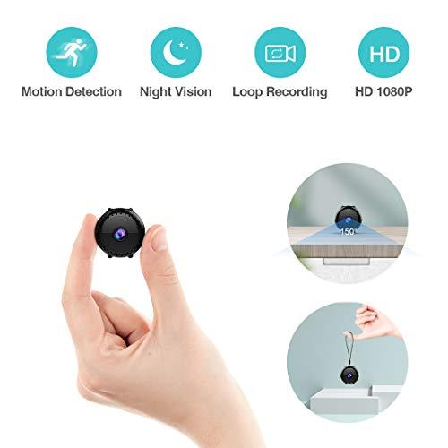 Mini Telecamera Sorveglianza Spia KEAN Full HD 1080P Portatile Micro Nascosta Microcamera con...