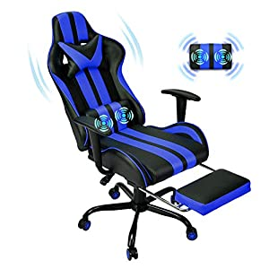 【Superior material】How could your fantastic gaming room without a perfect gaming chair to match with your great PC gaming setup? This gaming chair which in racing style that born to offer you a combination of luxurious comfort and visual enjoyment.It...