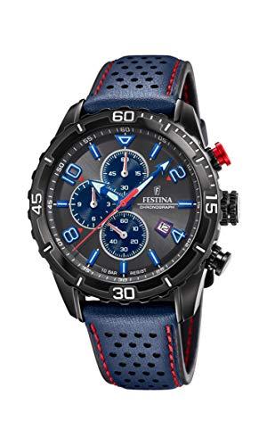 Festina Herren Analog Quarz Uhr mit Leder Armband F20519/3
