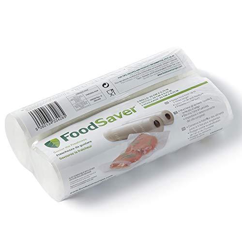 FoodSaver Rotolo Termosigillabile per Macchina per Sottovuoto Alimenti 20 cm X 6.7 m, senza BPA, 2 Pezzi