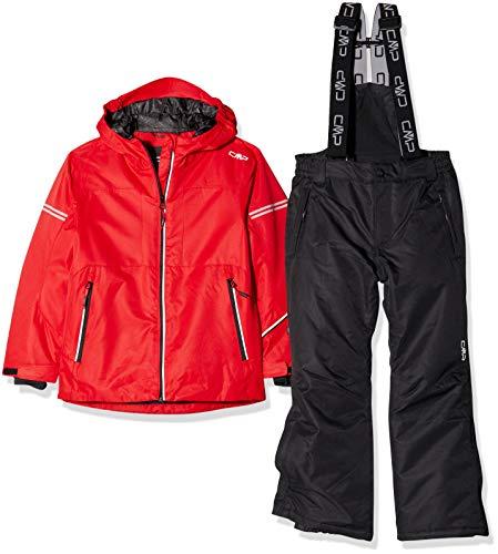 CMP Feel Warm Flat 5.000 39W1864, Set Giacca e Pantaloni Bambino, Ferrari, 140