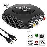 Convertisseur RCA vers HDMI, AMNAKA AV 3RCA vers HDMI Adaptateur Composite CVBS...