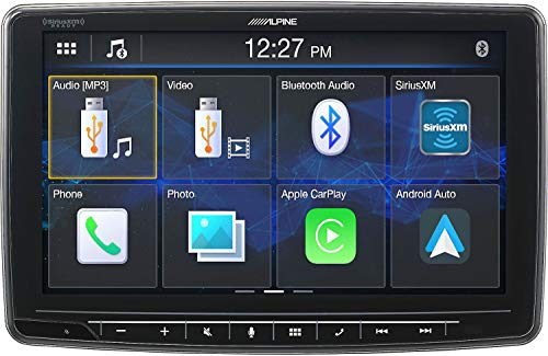 Alpine iLX-F259, Halo9 9' Single Din Mech-Less Digital Media Receiver, Apple CarPlay/Android Auto