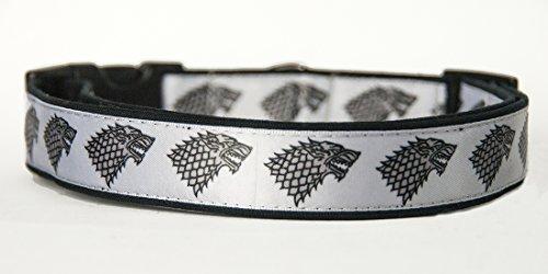 Juego De Tronos Game of Thrones House Stark Collar Perro Hecho a Mano Talla M sin Correa Dog Collar Handmade