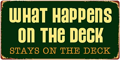 StickerPirate 1098HS What Happens On The Deck Stays On The Deck...