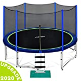 Zupapa 12 FT Trampoline for Kids with Safety Enclosure Net 375 LBS Weight Capacity Outdoor Trampolines with All Accessories (12FT)
