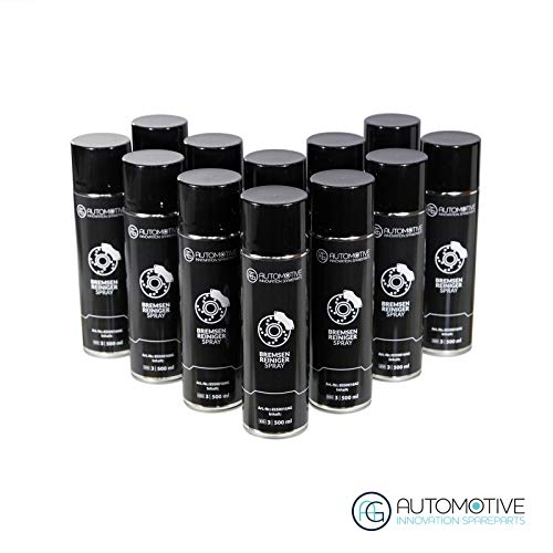 AG Automotive Bremsenreiniger Teilereiniger Entfetter Sprühdose Acetonfrei Spraydose 12x500ml Bremsreiniger Spray