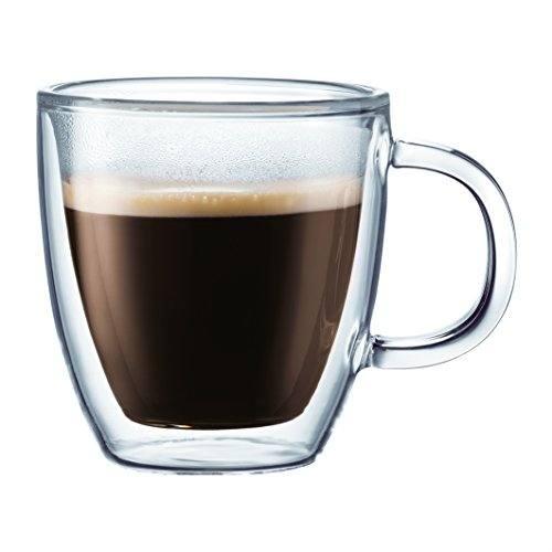 Bodum Bistro Coffee Mug, 10 Ounce (6-Pack), Clear