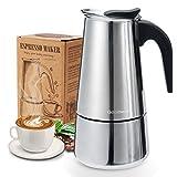 Godmorn Cafetera italiana,Cafetera espressos en Acero inoxidable430,6 tazas(300ml),Conveniente para...