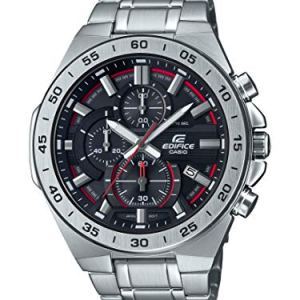 Casio Men's Edifice Quartz Watch with Stainless-Steel Strap, Silver, 26 (Model: EFR-564D-1AVCR)