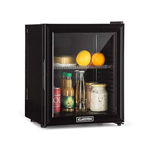 Klarstein Brooklyn 24L - Mini Frigorifero, Minibar, Porta in Vetro, 24 L, 0 dB, 12-15 ° C, Ripiano in Plastica,...
