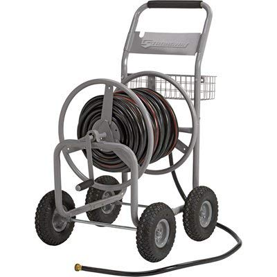 Strongway Garden Hose Reel Cart - Holds 5/8in. x...