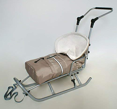 Baby Sacco da Piedi Coprigambe per Slitta Passeggino Beige/Bianco