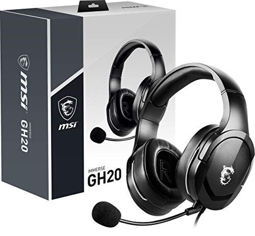 MSI IMMERSE GH20 - Auriculares Gaming con micrófono (compatibilidad...