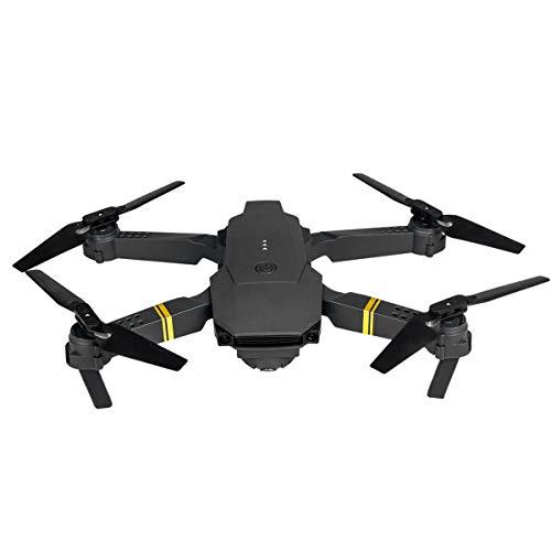 DERCLIVE E58 2. Drone Pieghevole 4Ghz Rc Drone WiFi FPV 720P con Borsa per Il Trasporto Nero
