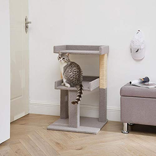 Naomi Home Lulu Large Cat Tower Gray