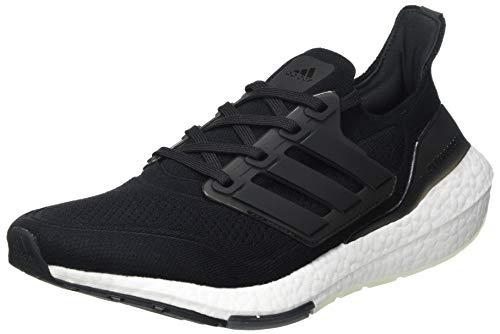 adidas Ultraboost 21, Zapatillas para Correr Hombre, Core Black/Core Black/Grey Four, 43 1/3 EU