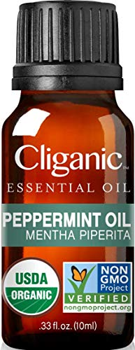 Cliganic USDA Organic Peppermint Essential Oil,...