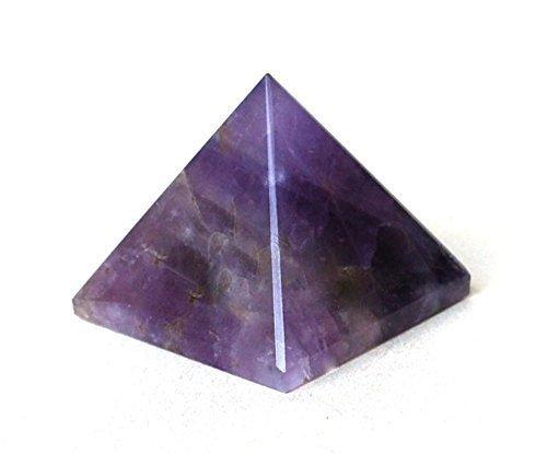 P0689 P0689 - Pirámide de amatista espiritual con piedras naturales de la India (1 unidad, 25-30 mm), color morado