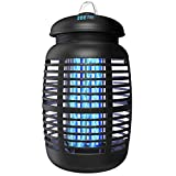 [2 in 1] Bug Zapper Outdoor Electric & Attractant - 4250V Electric Mosquito Zappers Fruit Fly Killer - Insect Fly Trap Indoor & Outdoor - Waterproof Light Bulb Lamp for Backyard, Patio, Home, Plug in