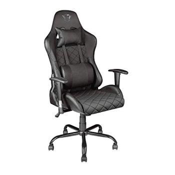 Trust Gaming GXT 707 Resto Chaise Gaming, Chaise de Bureau, Fauteuil Gamer, Ergonomique - 134 x 74 x 66 cm Noir