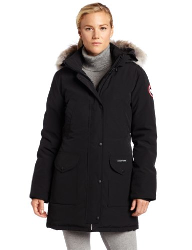 41Kz7QcSI2L Front-zip parka featuring removable coyote fur-trimmed hood, flap pockets at front, and welted Napoleon pockets at chest 625-fill power white duck down insulation Interior waist-cinching straps
