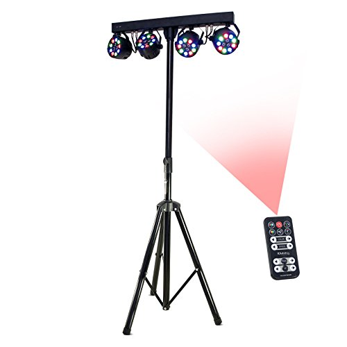 Ibiza Light DJLIGHT80LED, Stand Luci RGBW 4x Par, Nero